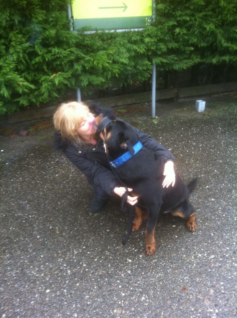 Trainster Annette Koome met in beslag genomen Bink